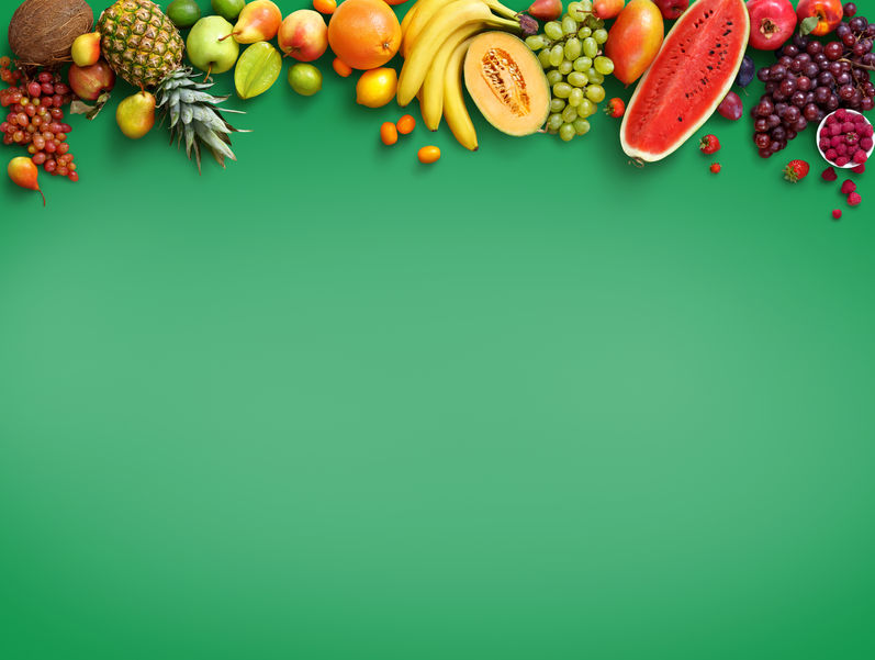 vegan, fresh fruits, green